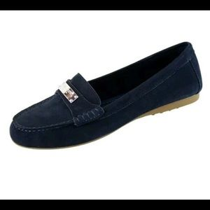 COACH Navy Blue Nubuck Leather Loafers Flats 8.5